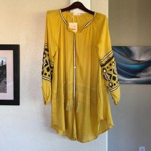 NWT Boho Dress / Tunic in Mustard Yellow